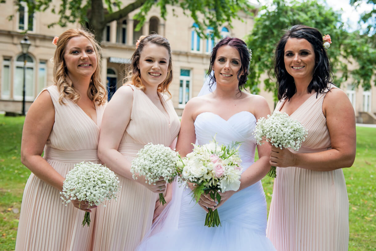 Bride and Bridesmaids at The Clock Tower, Huddersfield